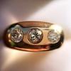 0.82ctw Old European Cut Diamond Gypsy Ring 18