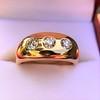 0.82ctw Old European Cut Diamond Gypsy Ring 6