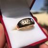 0.82ctw Old European Cut Diamond Gypsy Ring 23