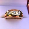 0.82ctw Old European Cut Diamond Gypsy Ring 19