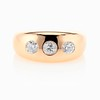 0.82ctw Old European Cut Diamond Gypsy Ring 0