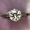 .84ctw Transitional Cut Diamond Filigree Solitaire 12