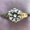 .84ctw Transitional Cut Diamond Filigree Solitaire 10