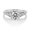 .84ctw Transitional Cut Diamond Filigree Solitaire 0