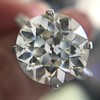 8.54ct Old European Cut Diamond Solitaire GIA OP VS 0