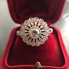 .85ctw Old European Cut Floral Motif Ring 19