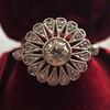 .85ctw Old European Cut Floral Motif Ring 23