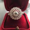 .85ctw Old European Cut Floral Motif Ring 20
