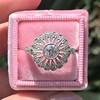 .85ctw Old European Cut Floral Motif Ring 6