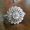 .85ctw Old European Cut Floral Motif Ring 17