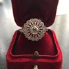 .85ctw Old European Cut Floral Motif Ring 24