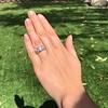 8.61ctw Antique Cushion Cut Diamond Trilogy Ring 26