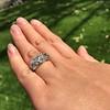 8.61ctw Antique Cushion Cut Diamond Trilogy Ring 19
