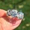 8.61ctw Antique Cushion Cut Diamond Trilogy Ring 1