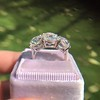 8.61ctw Antique Cushion Cut Diamond Trilogy Ring 25