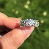 8.61ctw Antique Cushion Cut Diamond Trilogy Ring 28