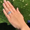 8.61ctw Antique Cushion Cut Diamond Trilogy Ring 21