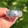 8.61ctw Antique Cushion Cut Diamond Trilogy Ring 5