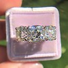 8.61ctw Antique Cushion Cut Diamond Trilogy Ring 23