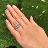 8.61ctw Antique Cushion Cut Diamond Trilogy Ring 18
