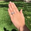 8.61ctw Antique Cushion Cut Diamond Trilogy Ring 8