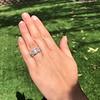 8.61ctw Antique Cushion Cut Diamond Trilogy Ring 24