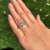 8.61ctw Antique Cushion Cut Diamond Trilogy Ring 20