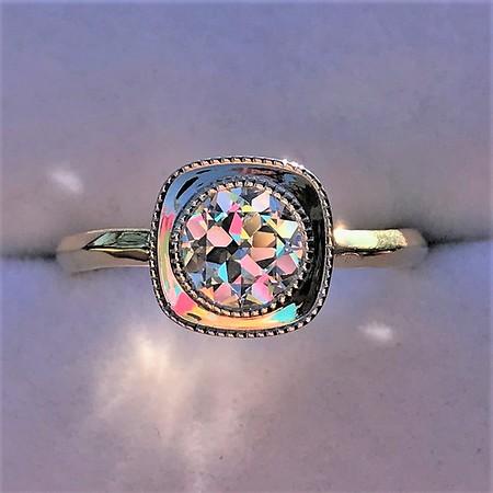 .86ct Old European Cut Diamond Ring