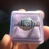 .93ctw Art Deco Old European Cut Diamond Dome Ring 18