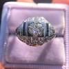 .93ctw Art Deco Old European Cut Diamond Dome Ring 17