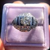 .93ctw Art Deco Old European Cut Diamond Dome Ring 16