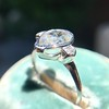 .95ctw Vintage Pear Rose Cut Diamond Bezel Ring 6