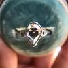 .95ctw Vintage Pear Rose Cut Diamond Bezel Ring 16
