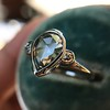 .95ctw Vintage Pear Rose Cut Diamond Bezel Ring 25