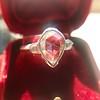.95ctw Vintage Pear Rose Cut Diamond Bezel Ring 5