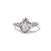 .95ctw Vintage Pear Rose Cut Diamond Bezel Ring 0