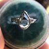 .95ctw Vintage Pear Rose Cut Diamond Bezel Ring 15
