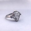 .95ctw Vintage Pear Rose Cut Diamond Bezel Ring 28