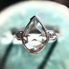 .95ctw Vintage Pear Rose Cut Diamond Bezel Ring 11