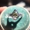 .95ctw Vintage Pear Rose Cut Diamond Bezel Ring 10