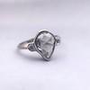 .95ctw Vintage Pear Rose Cut Diamond Bezel Ring 29
