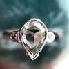 .95ctw Vintage Pear Rose Cut Diamond Bezel Ring 13