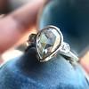 .95ctw Vintage Pear Rose Cut Diamond Bezel Ring 20