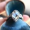 .95ctw Vintage Pear Rose Cut Diamond Bezel Ring 17