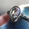 .95ctw Vintage Pear Rose Cut Diamond Bezel Ring 22