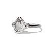 .95ctw Vintage Pear Rose Cut Diamond Bezel Ring 1
