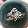 .95ctw Vintage Pear Rose Cut Diamond Bezel Ring 24