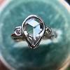 .95ctw Vintage Pear Rose Cut Diamond Bezel Ring 26