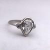.95ctw Vintage Pear Rose Cut Diamond Bezel Ring 31