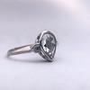 .95ctw Vintage Pear Rose Cut Diamond Bezel Ring 30